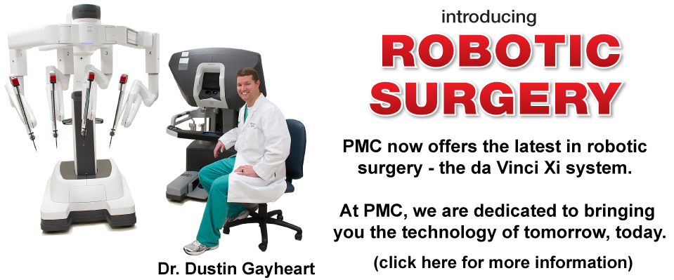 PMC now offers the latest in robotic surgery - the da Vinci Xi system.
