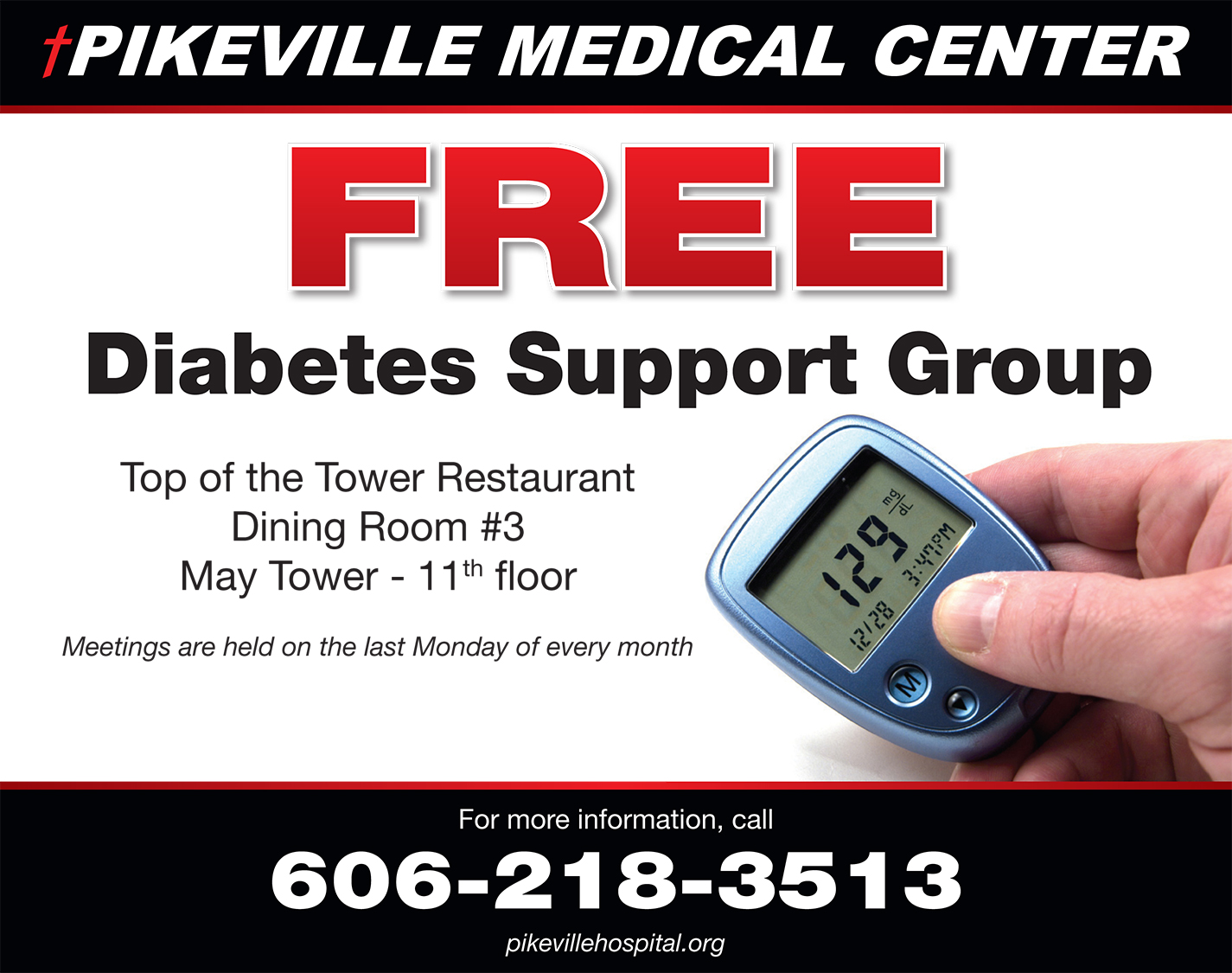 Diabetes Support Group @ May Tower, 11th floor restaurant | Pikeville | Kentucky | United States