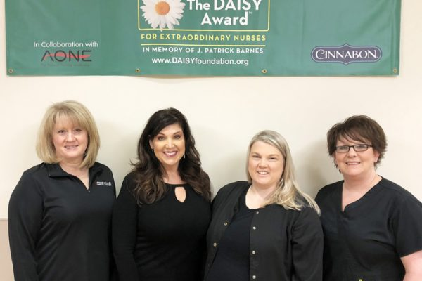 Pediatric Nurse Katie Collins recognized as DAISY Award recipient