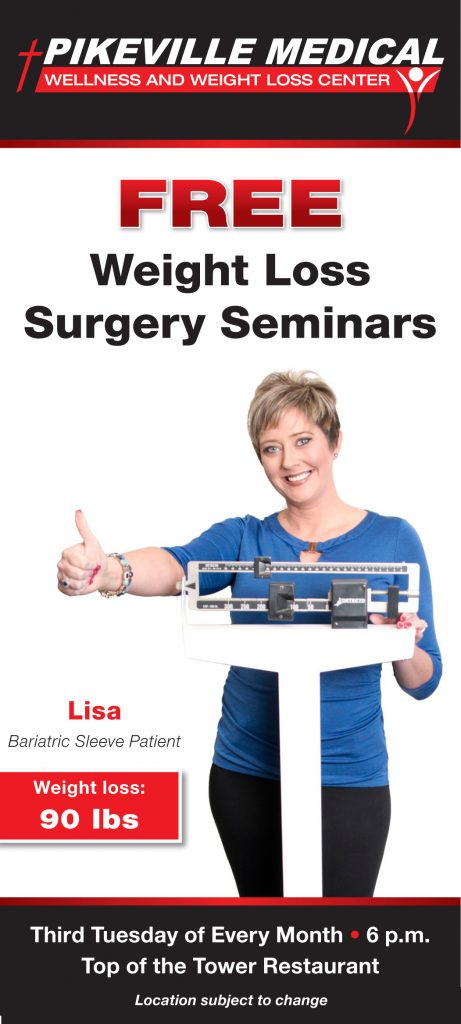 Free Weight Loss Surgery Seminar @ Top of the Tower Restaurant, 11th Floor, Dining Room 1 | Pikeville | Kentucky | United States