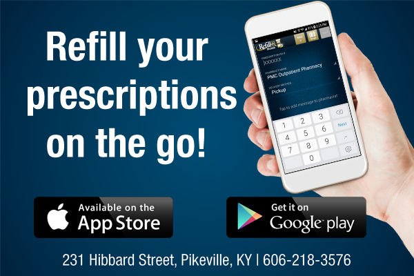 Refill your  prescriptions  on the go!