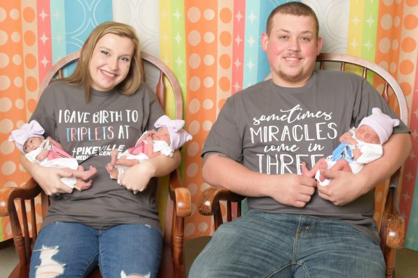 SOMETIMES MIRACLES COME IN THREES – FIRST TRIPLETS BORN AT PMC IN OVER 17 YEARS
