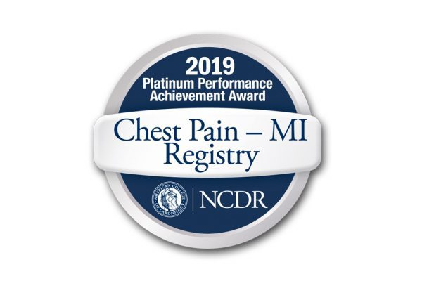 PMC Awarded NCDR Chest Pain-MI Registry® Platinum Performance Achievement Award