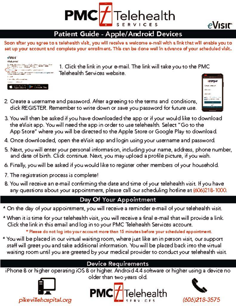 thumbnail of PDF of Telehealth Instructions Apple