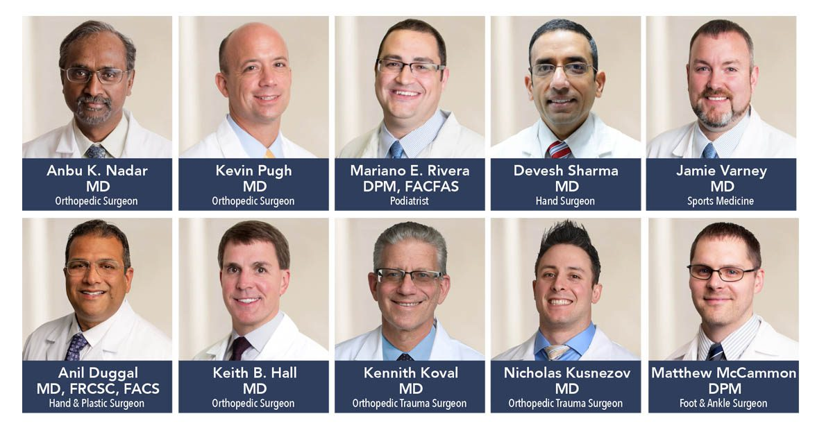 Ten Orthopedic Specialists Offer Advanced Care for Injuries